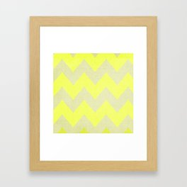 Jonquils & Daffodils - Yellow Chevron Framed Art Print