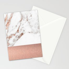 Rose gold marble and foil Stationery Cards