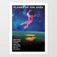 planet of the apes Art Prints featuring Planet of the Apes alt. by KevinACArter