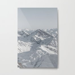 Mountain peaks - Mont Blanc serie 8 - sky touch Metal Print
