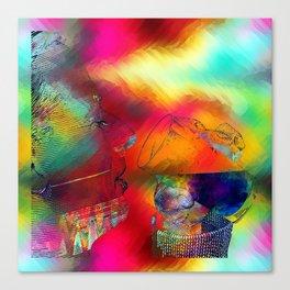 boire un verre Canvas Print