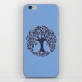 Tree of Life Blue iPhone Skin