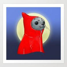 Hooded Seal Art Print