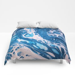 Glossy Currents 1 Comforters