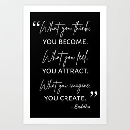 Buddha Quote I Art Print