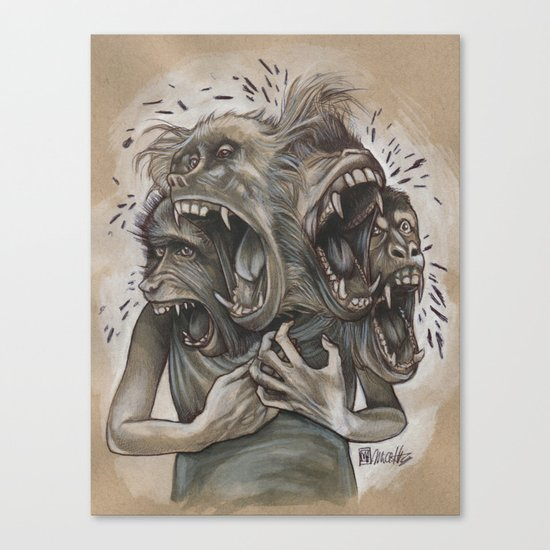One Screaming Monkey at a Time Canvas Print