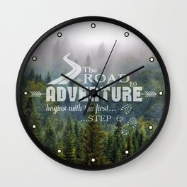 The Road To Adventure Wall Clock
