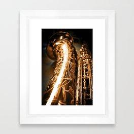 Tenor Saxophone - MIDQ01 Framed Art Print