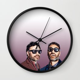 Jemaine and Taika 2 Wall Clock