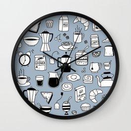 Breakfast Things Wall Clock
