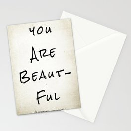 "Evolve ""You Are Beautiful"" Stationery Cards"