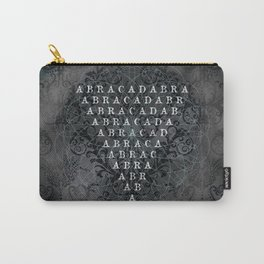 Abracadabra Reversed Pyramid in Charcoal Black Carry-All Pouch