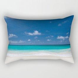 Peaceful Turquoise Blue Ocean Seascape Rectangular Pillow