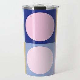 Colorful Circles in Squares Travel Mug