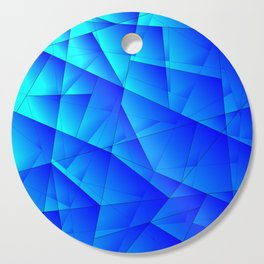 Bright sea pattern of heavenly and blue triangles and irregularly shaped lines. Cutting Board
