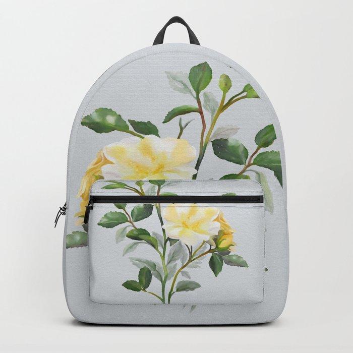 Yellow Watercolor Rose Backpack