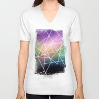 night sky V-neck T-shirts featuring night sky by Cat Milchard