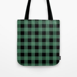 Green Flannel Tote Bag