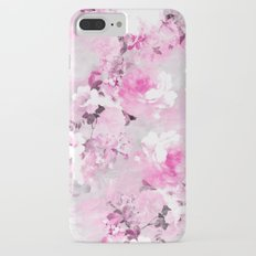 Purple grey floral watercolor romantic flowers pattern Slim Case iPhone 8 Plus
