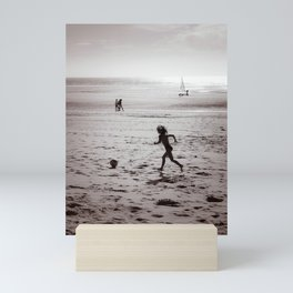 Foot on the beach Mini Art Print