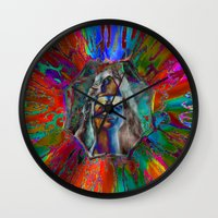 hippy Wall Clocks featuring Hippy Girl by AuntyReni's Creations