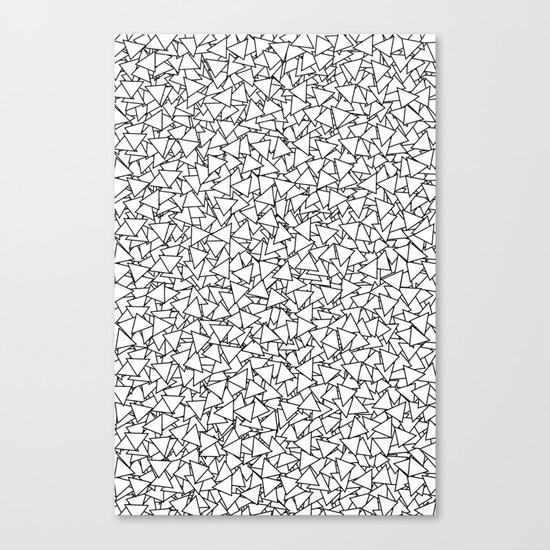 Black and White Triangles Dizzy All-Over Pattern Canvas Print