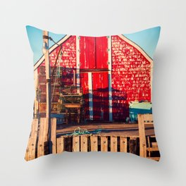 End of Day at Blue Rocks Throw Pillow