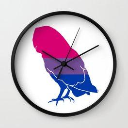 Bi Pride Owl Wall Clock