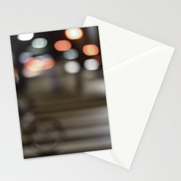 Biking lights Stationery Cards