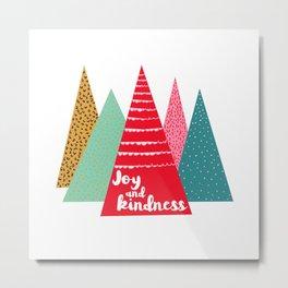 Joy and Kindness Holiday Metal Print