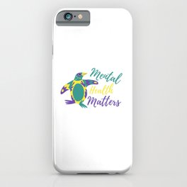 Mental Wellbeing Penguin iPhone Case