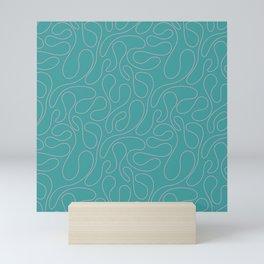 Abstract Geometrical Rosewater Pink Mint Blue Pattern Mini Art Print