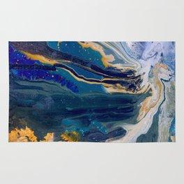 Marblized, Blue Series Rug