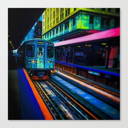 Brown Line Approaching Canvas Print