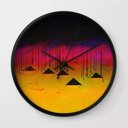 Pink Horizon / Archipelago 24-01-17 Wall Clock