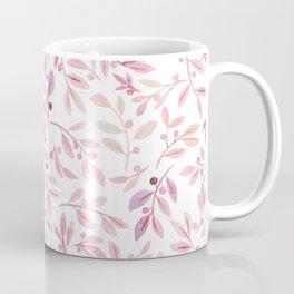 Leaves and Berries   Blush Palette Coffee Mug