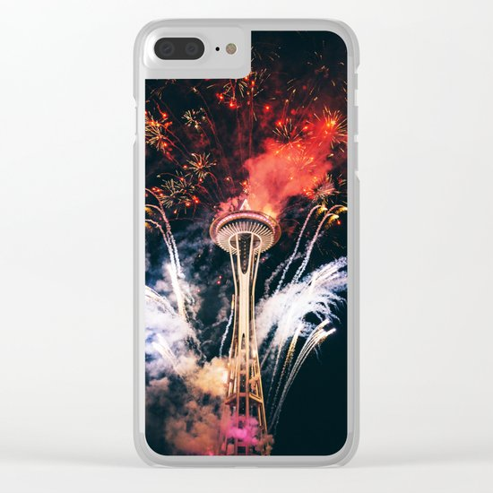 Seattle Space Needle Celebration Clear iPhone Case