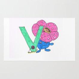 V is for Vileplume Rug