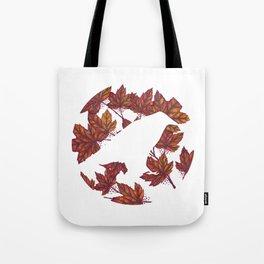 Maple Leaves Raven Tote Bag