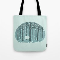 ilovedoodle Tote Bags featuring Hibearnation by ilovedoodle by I Love Doodle