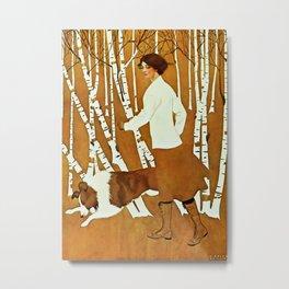 Coles Phillips 'Fadeaway Girl' A Walk in the Woods Metal Print