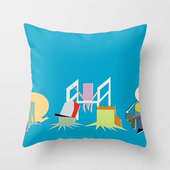 Minimal Squidbillies Throw Pillow
