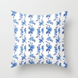 CB x SK BLUE FLORAL Throw Pillow