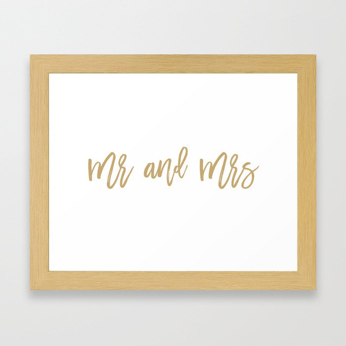 Mr and Mrs Framed Art Print