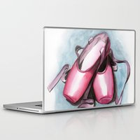 sneaker Laptop & iPad Skins featuring ballet sneaker by rchaem