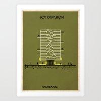 joy division Art Prints featuring Joy Division by federico babina