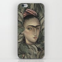 frida kahlo iPhone & iPod Skins featuring Frida Kahlo by Antonio Lorente