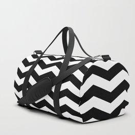 Black Chevron Pattern Duffle Bag