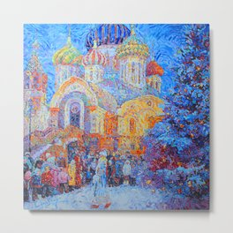 The Temple of the Holy Great Prince Igor of Chernigov in Peredelkino Metal Print