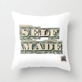 SELF MADE Script Throw Pillow